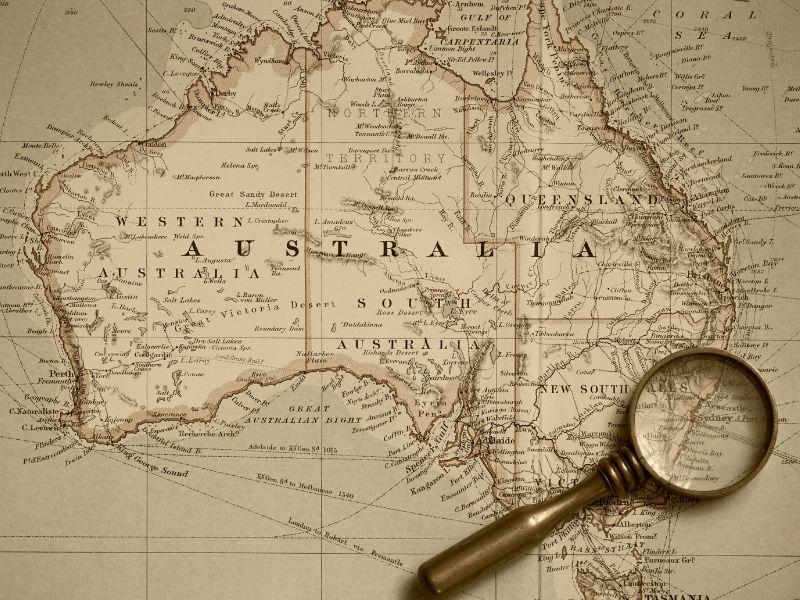 peta australia lengkap