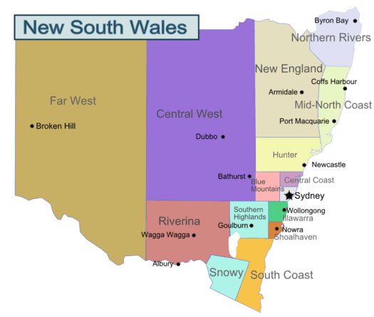 Mengenal Australia: Peta Australia Lengkap, Secara Geografi Maupun Pembagiannya