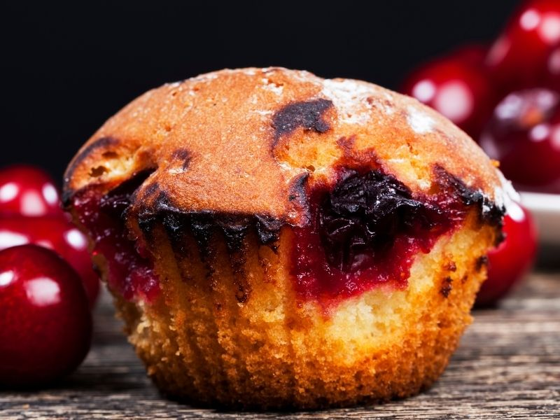 cherry ripe muffin