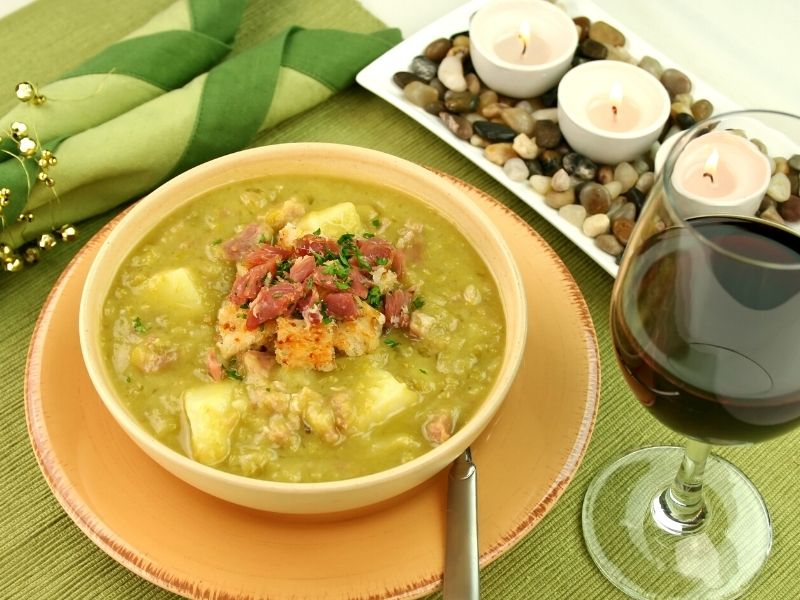 pea and ham soup in a slow cooker